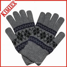 Winter Jacquard Knitted Glove with Fleece Lining